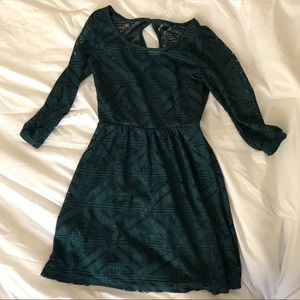 Forest Green Long Sleeved Dress